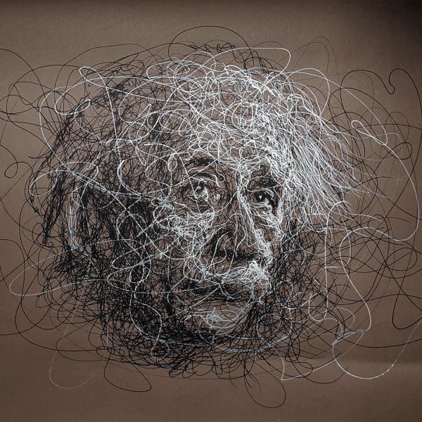 Albert Einstein by Mitek
