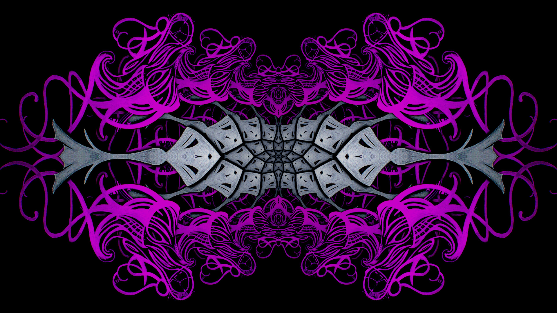 Accross my eyes forever - digital abstract art by Mitek