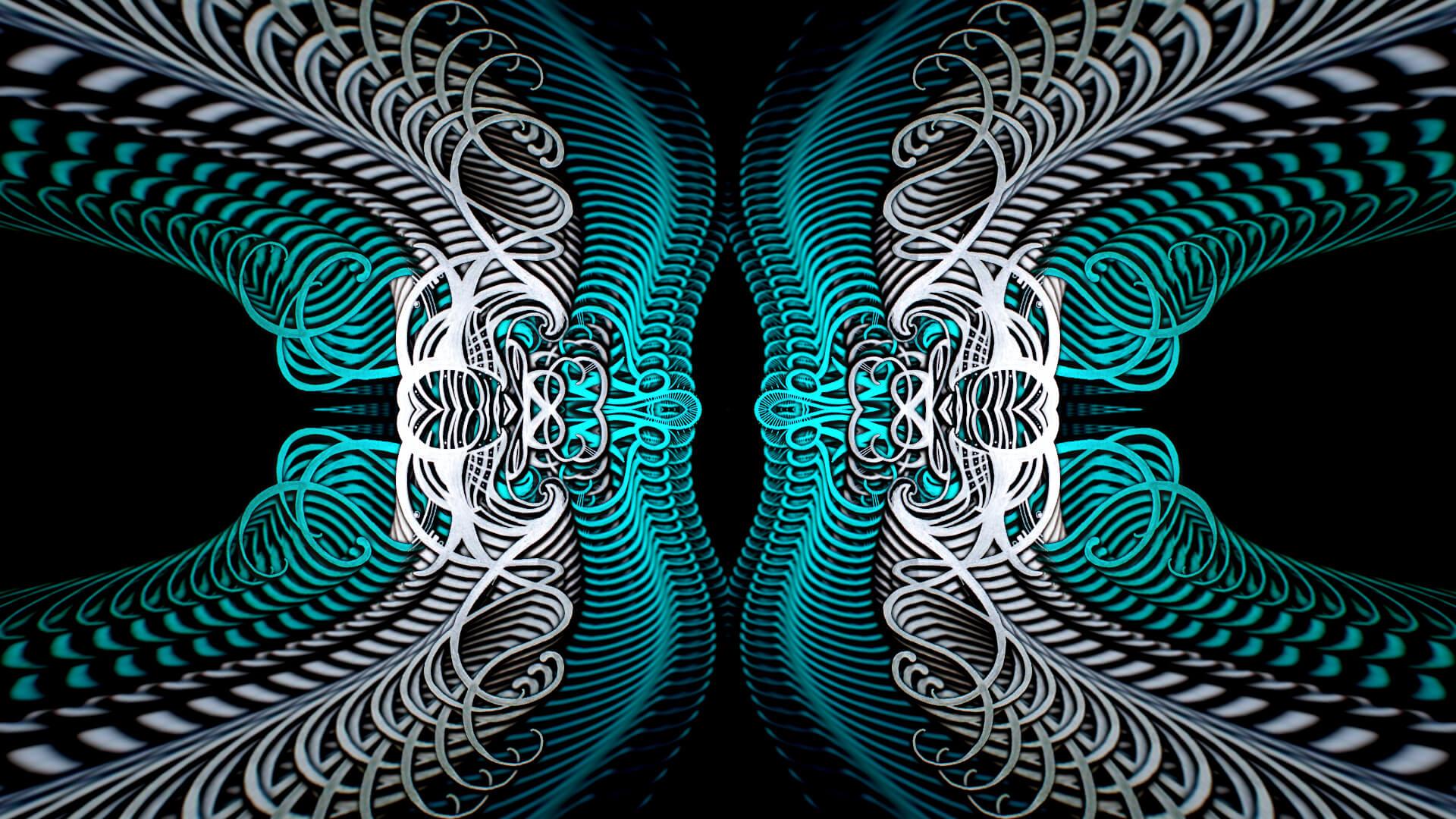 Down through all eternity - digital abstract art by Mitek