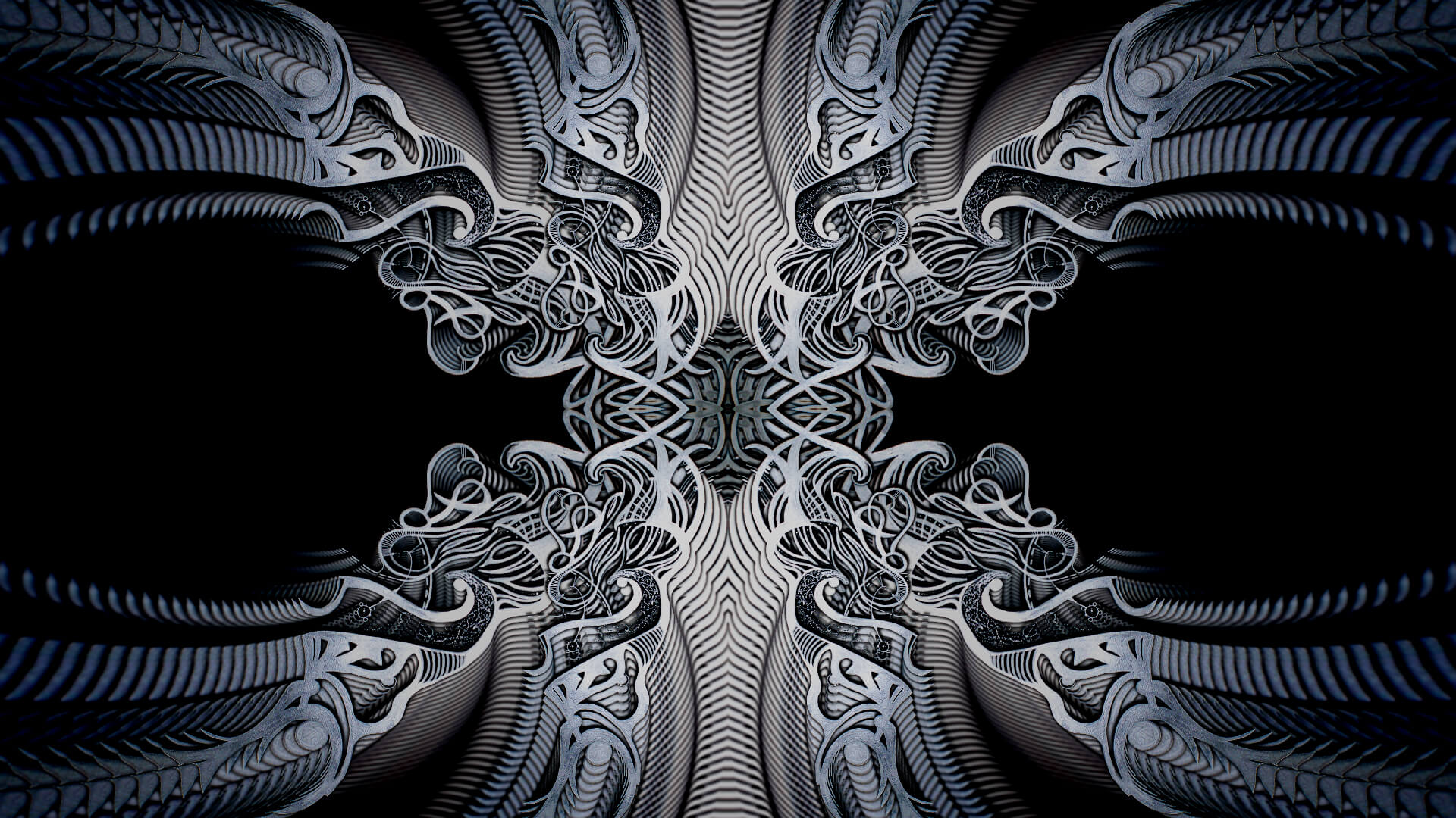 Clash of bright metal - digital abstract art by Mitek