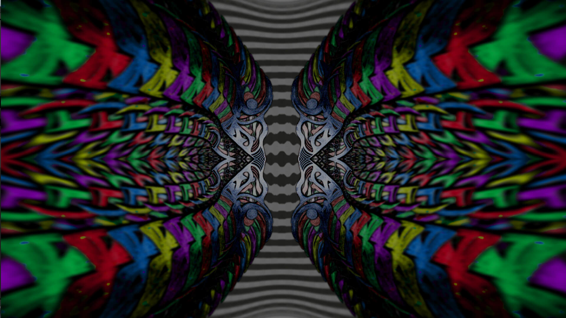 Ripples of your laugh  - digital abstract art by Mitek