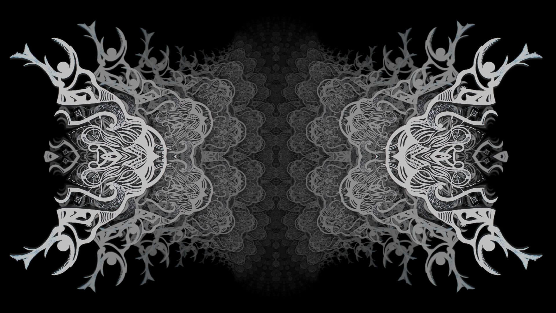 Soiled white sheet - digital abstract art by Mitek