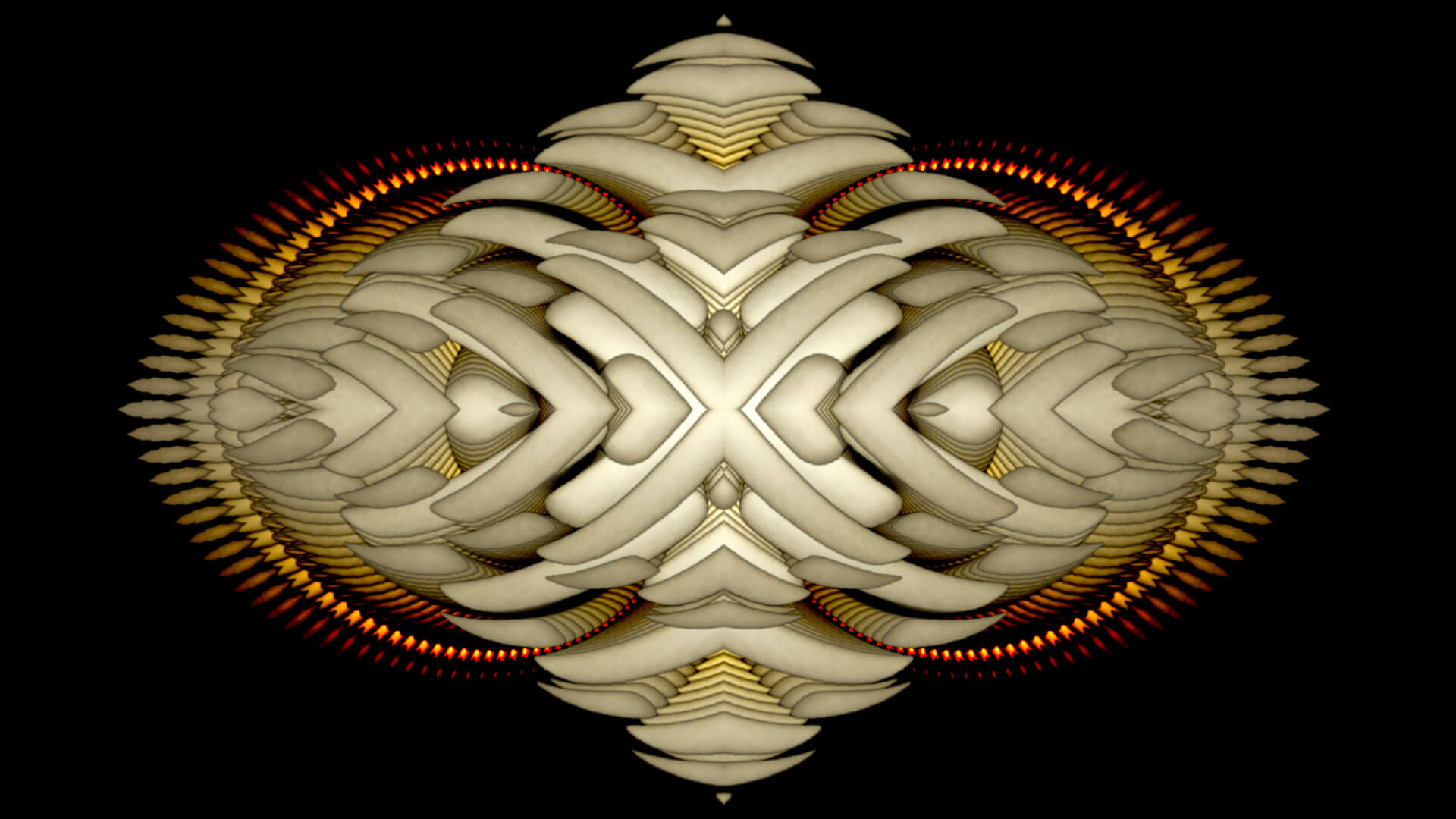 You let yourself be  - digital abstract art by Mitek